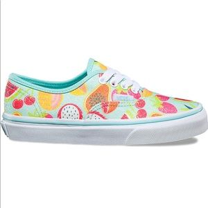 Vans Youth Authentic Glitter Fruits Island Shoes